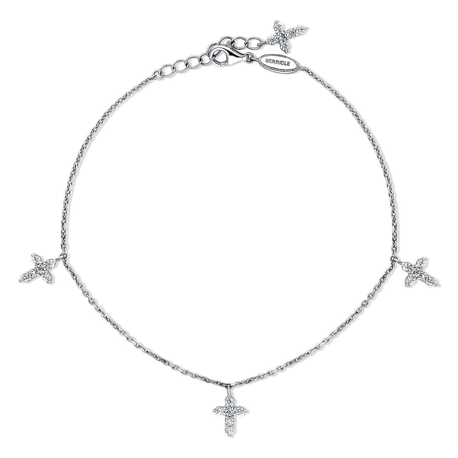 shaped and details adorned expert chain heart anklet with ankle cubic classic by brilliant designed polished a sterling inlays anklets silver crafted is clear hand romantic products clr this zirconia ca bracelet link in