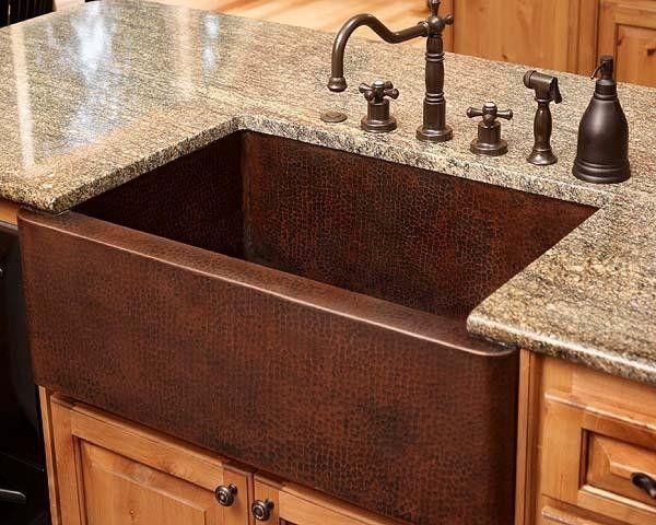Copper Kitchen Sinks with Designs | copper farmhouse sinks modern kitchen sinks kitchen design ideas