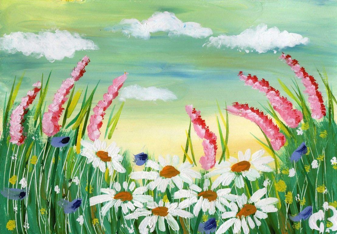 Картинка летний пейзаж для детей