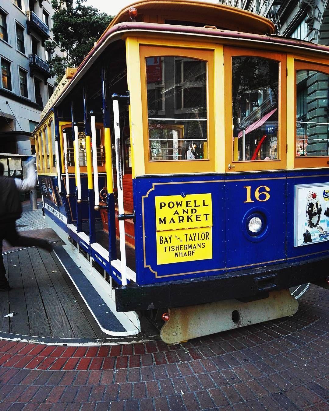 Cable Car In San Francisco #cablecar #sanfrancisco #city