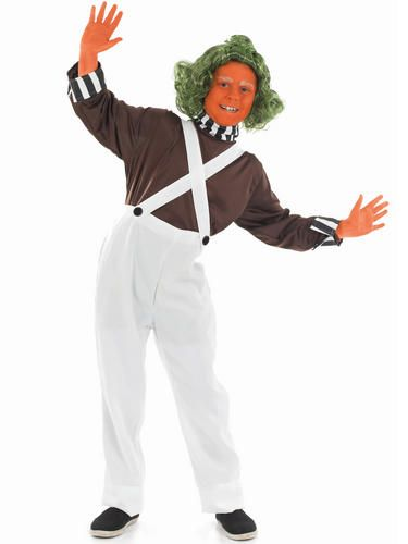 Wig Girls Fancy Dress World Book Day Kids Childrens Costume New Oompa Loompa