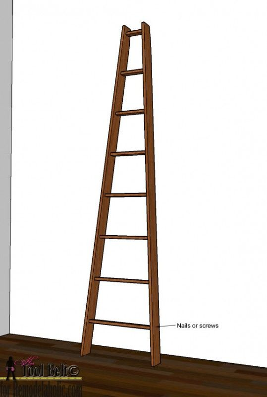 Remodelaholic Decorative Orchard Ladder Building Plan Decor Building Plan Diy Home Improvement