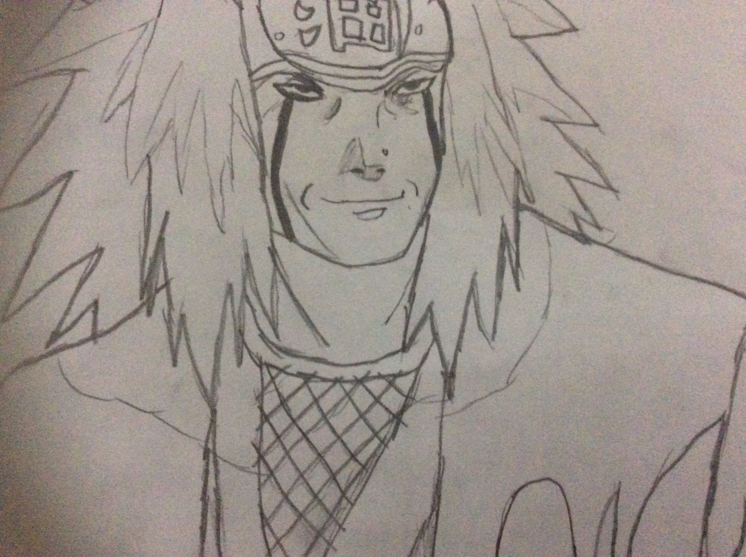 My drawing of the best naruto character pervy sage