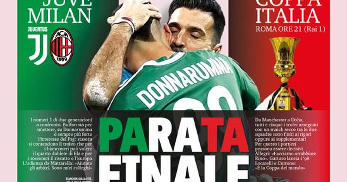 Gazzetta dello Sport prima pagina 9 maggio Sport