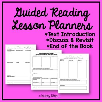 Guided Reading Lesson Plan Templates  Teaching Things