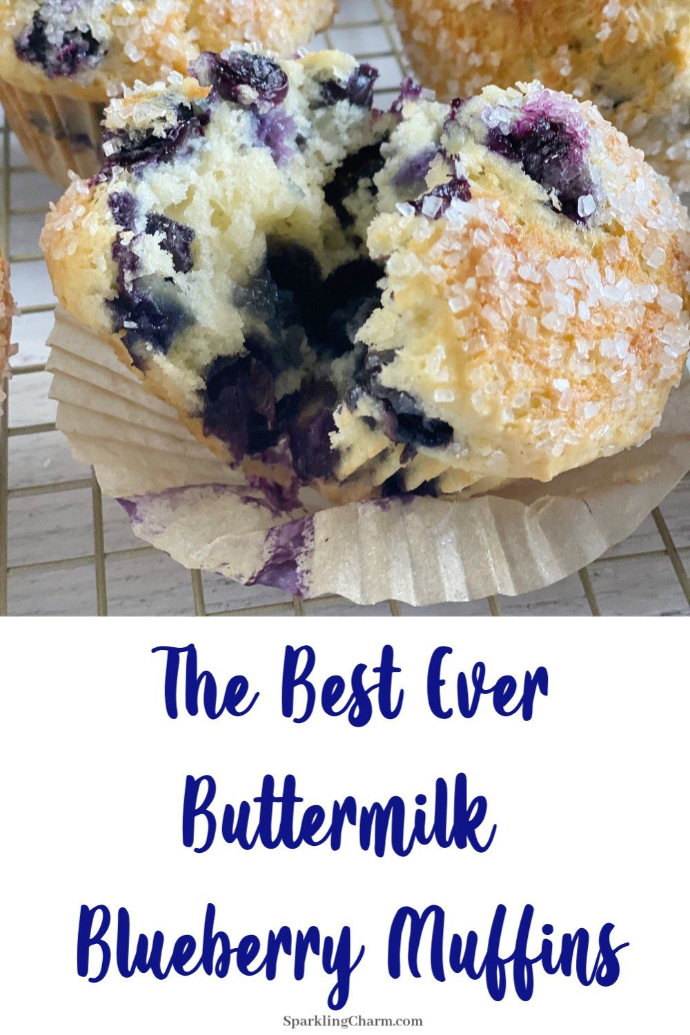 The Best Ever Homemade Buttermilk Blueberry Muffins Sparkling Charm Entertaining Lifestyle Tips Recipes Crafts Recipe In 2020 Buttermilk Blueberry Muffins Blue Berry Muffins Homemade Buttermilk