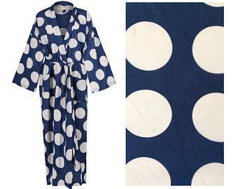 Kimono Robe - Lightweight Cotton Dressing Gown - Women s Light Bathrobe -  100% Cotton Bathrobe 6a1165ae2