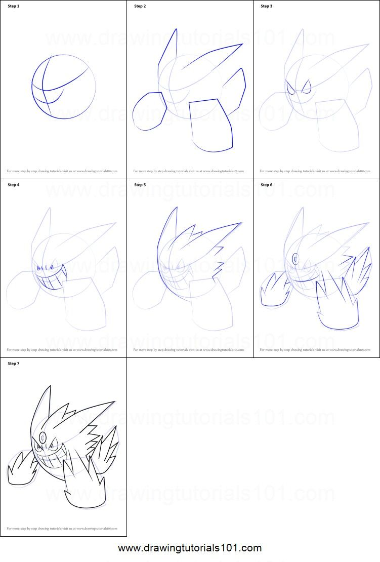 How To Draw Mega Gengar Pokemon Megagengar Draw Easy Pokemon Drawings Easy Drawings Pokemon Sketch