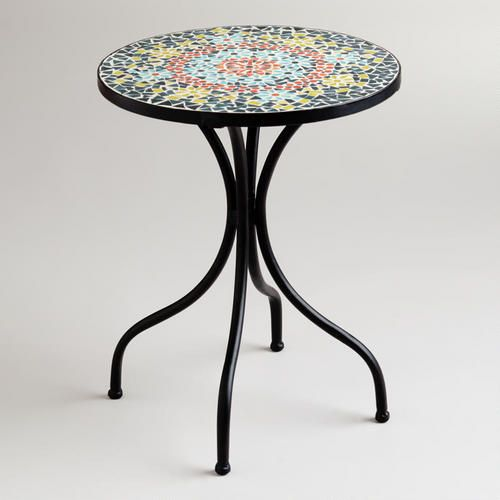 Medallion Cadiz Mosaic Accent Table Would Look Good Outside On Porch Or Deck Even Inside As An Love