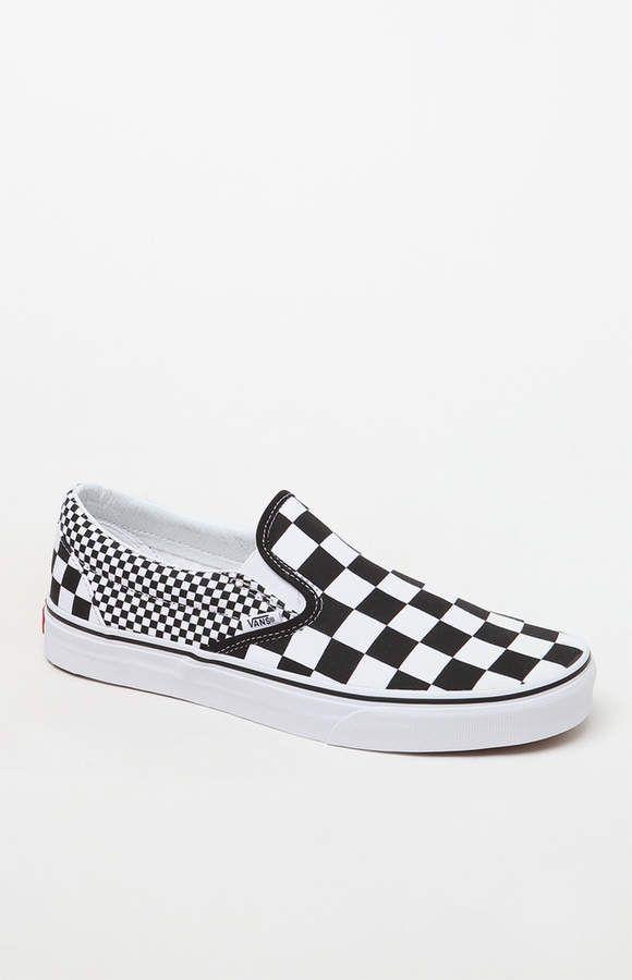 d480a22416af Vans Mix Checker Classic Slip-On Shoes