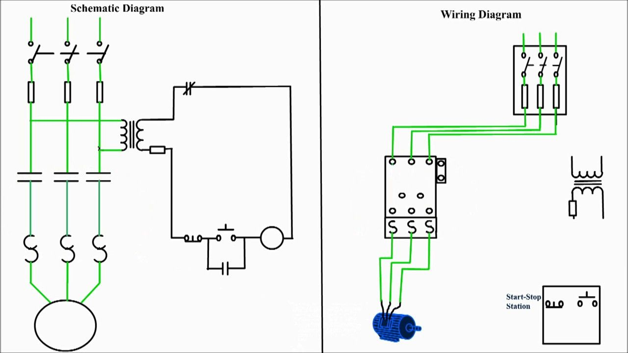 Motor Starter Diagram Start Stop 3 Wire Control Starting A Three For WiringPinterest