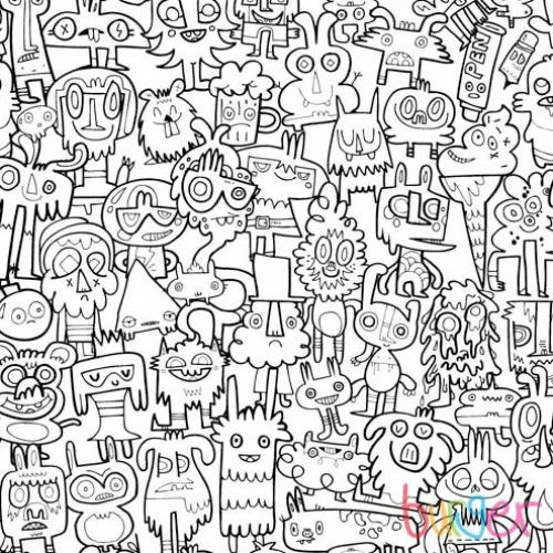Burgerdoodles Colour-In Wallpaper | Wallpaper, Doodles and Coloring ...