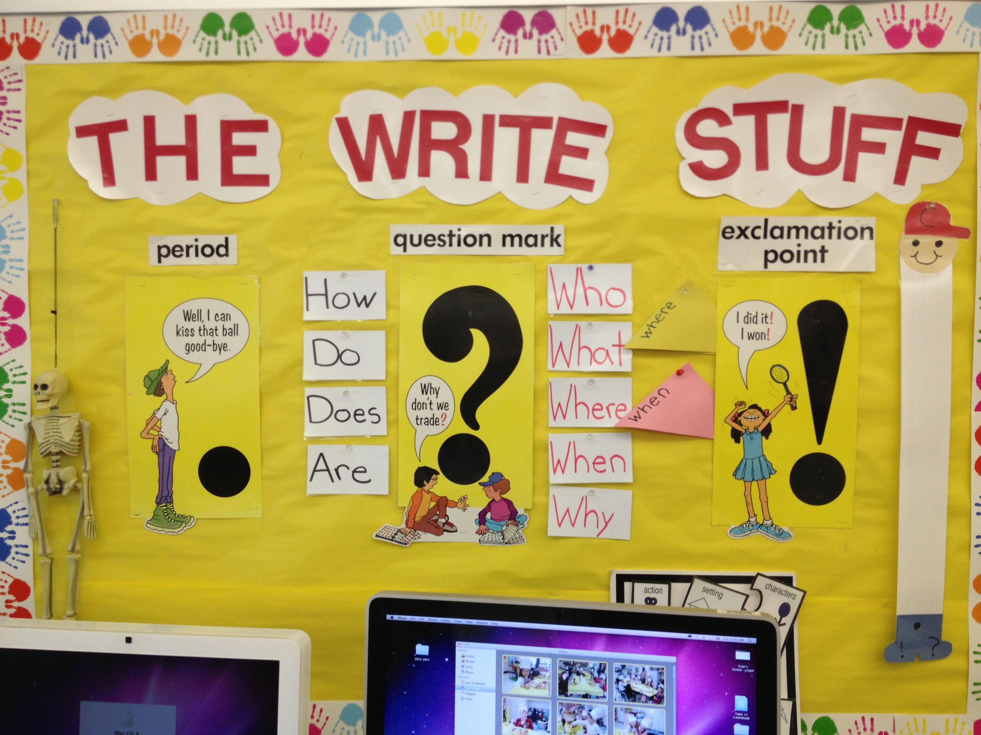 Writing Bulletin Board For 1st Grade