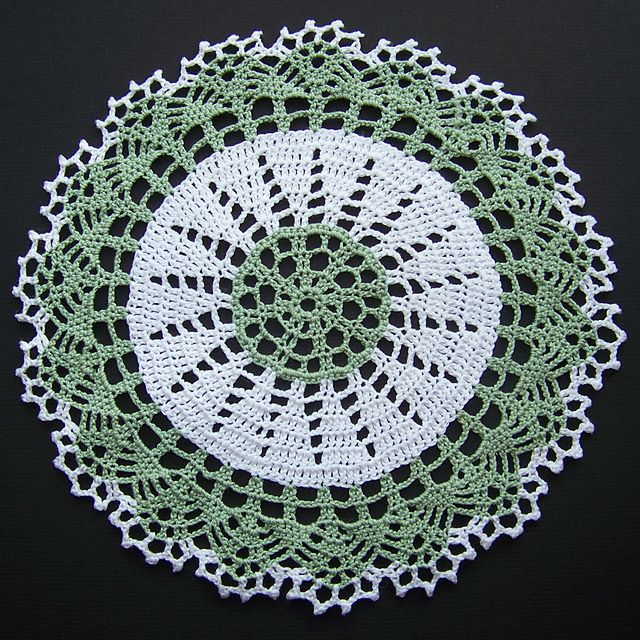 Ravelry: Two-tone Doily pattern by American Thread Company, crochet ...