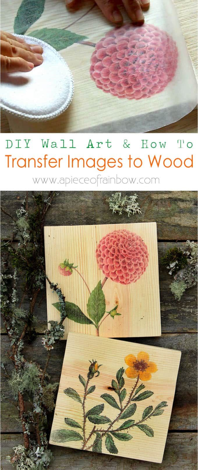 DIY Wall Art & How to Transfer Image to Wood | Wood wall art, Wood ...