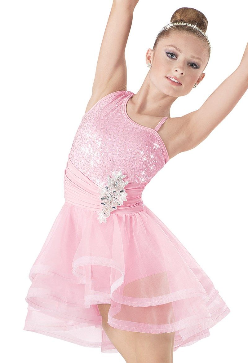 Weissman™ | Sequin High-Low Crinoline Dress | Dance Costumes ...
