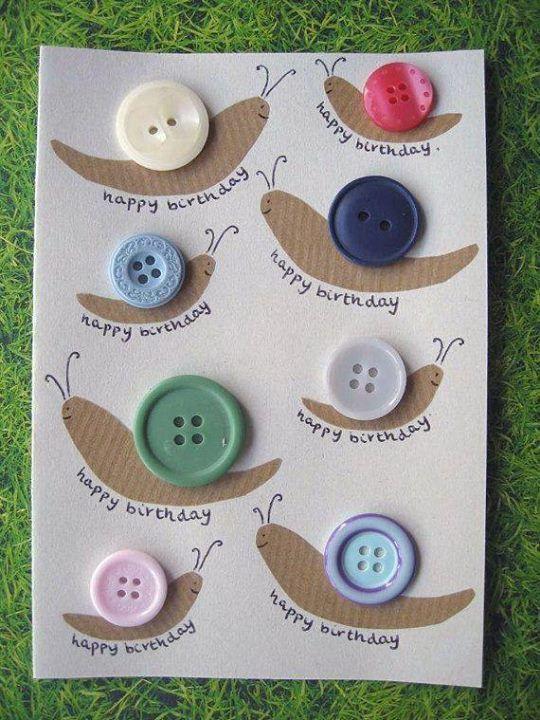 11141777 729645367153586 5557042481444634154 N Jpg 540 720 Handmade Birthday Cards Unique Birthday Cards Button Crafts