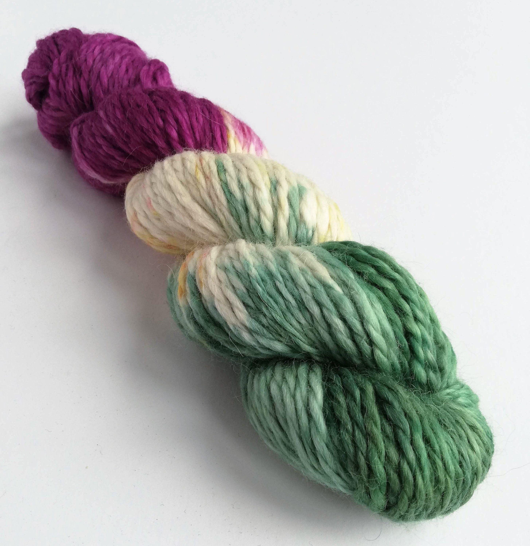 Green Lace Weight Baby Alpaca Silk Ombre Yarn Green Gradient Yarn