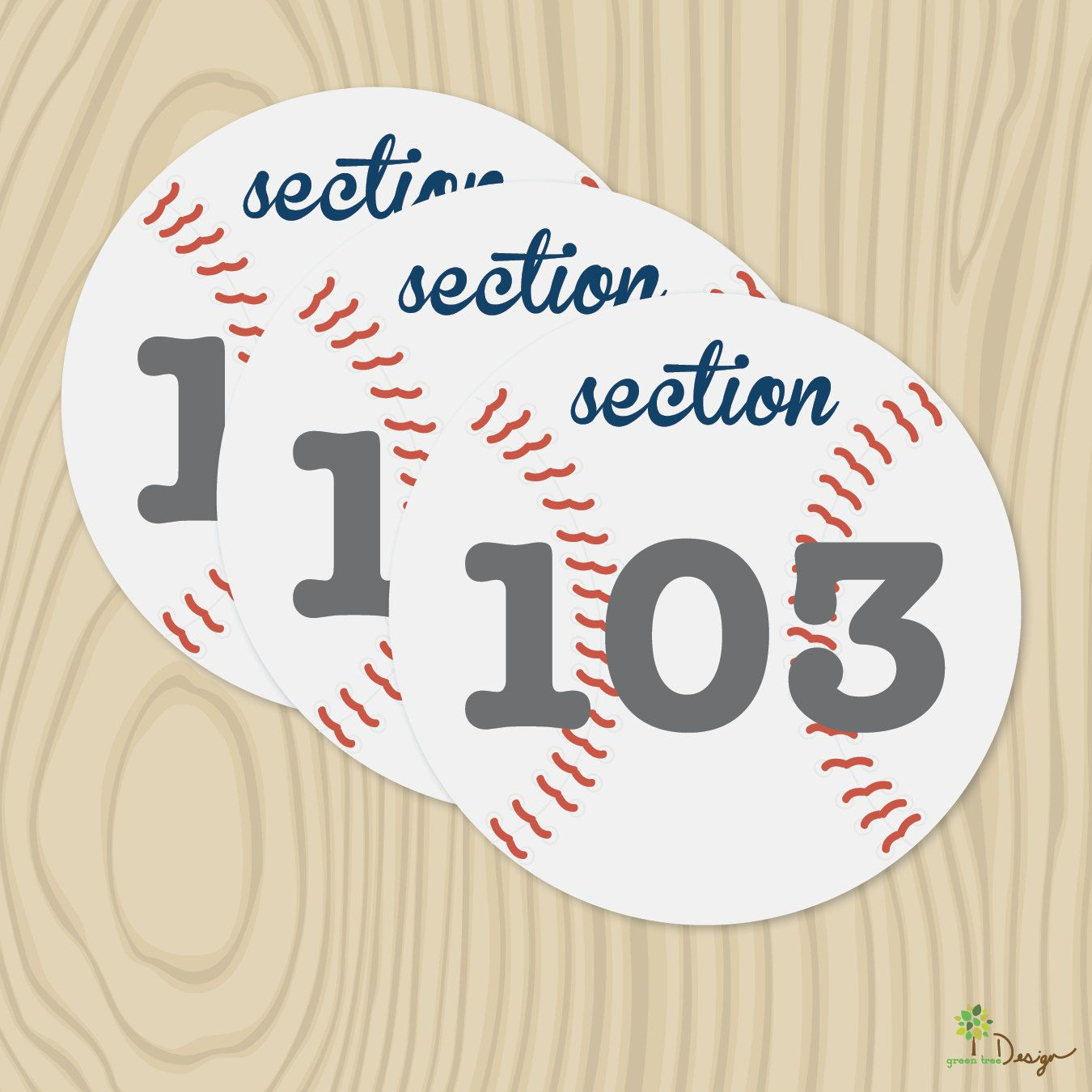 DIY Printable Wedding Baseball Table Numbers | Bored and She\'s gonna ...