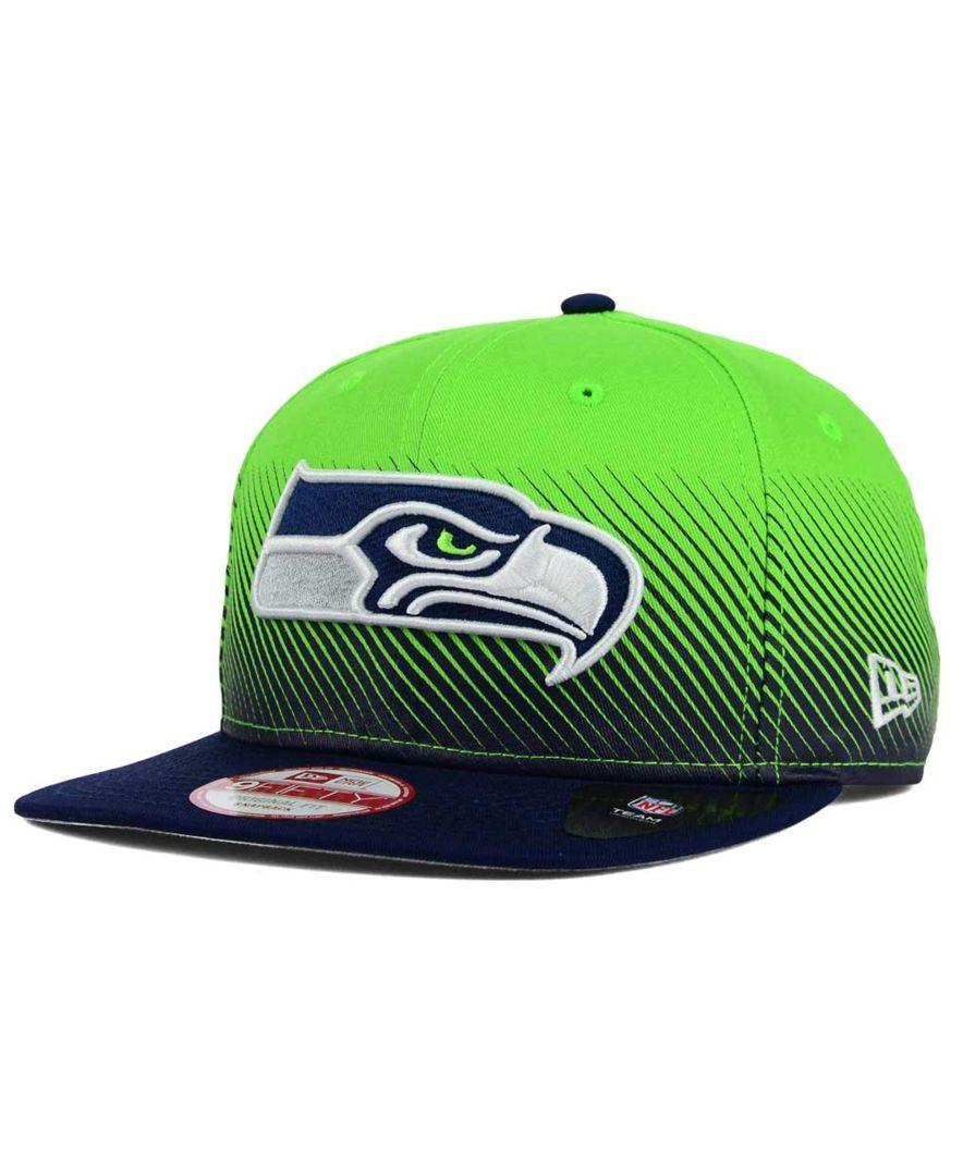 online retailer 7ac0d 4162b New Era Seattle Seahawks Line Fade 9FIFTY Snapback Cap