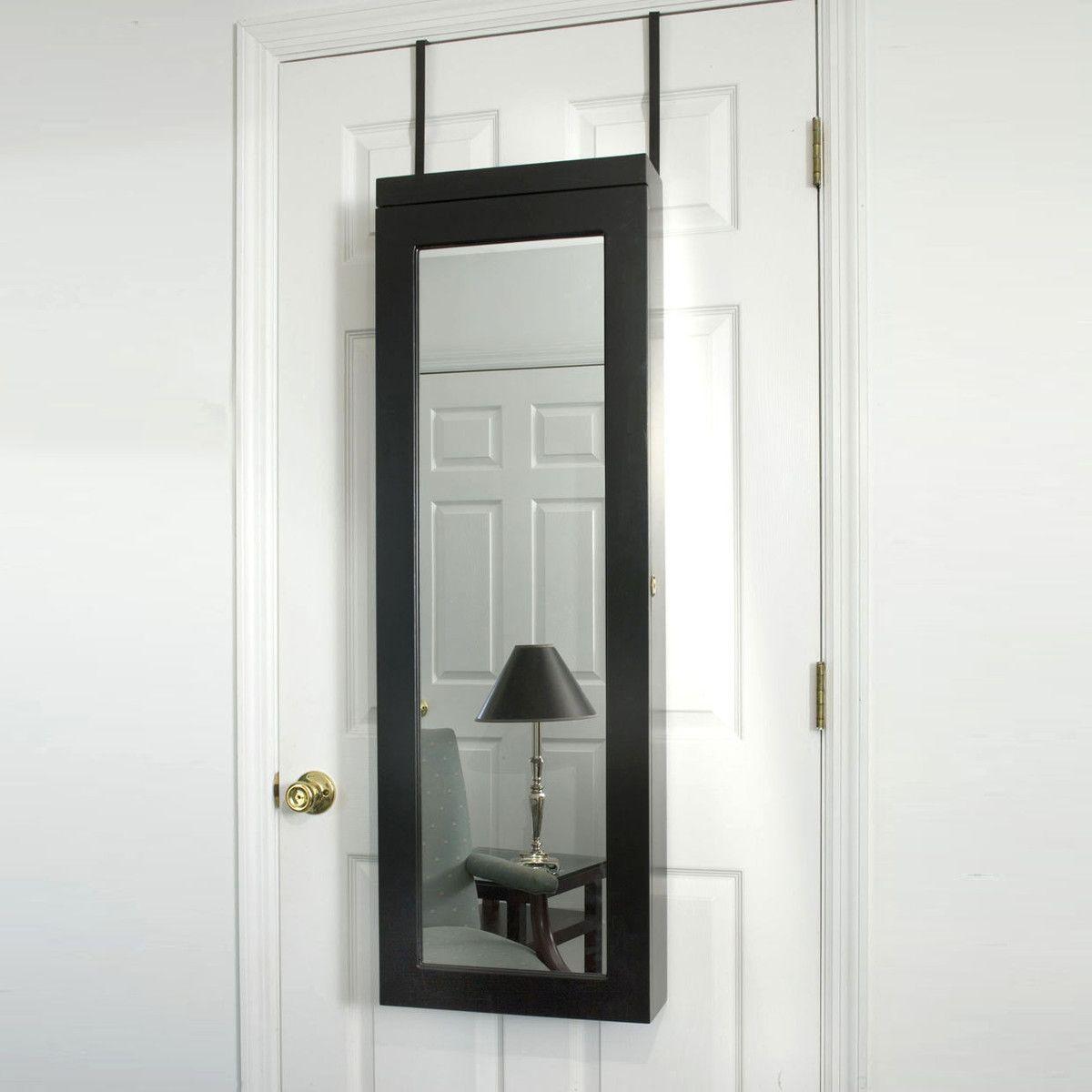 Door Armoire 48 Black | Over the door mirror, Light ...