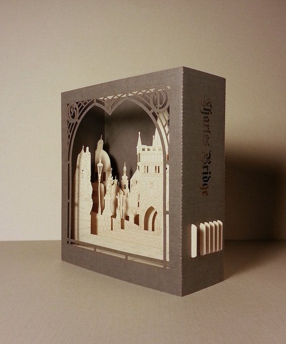 Special Price. Prague Charles Bridge. Old Town. Stone Bridge, Pražský most. Karlův most. Czech Art Pop up paper scale model architecture art
