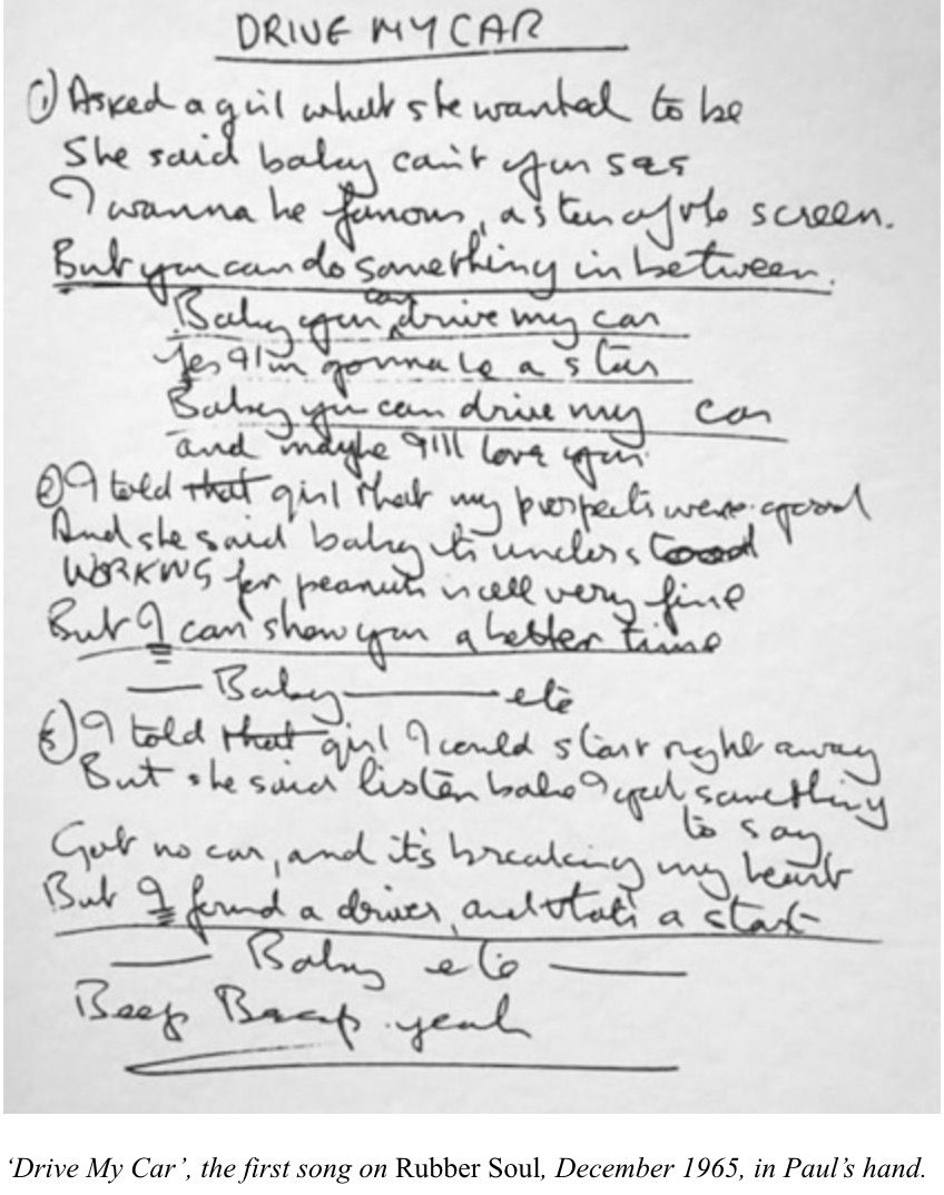 Pin By Kristy In The Sky On Beatles Handwritten Lyrics