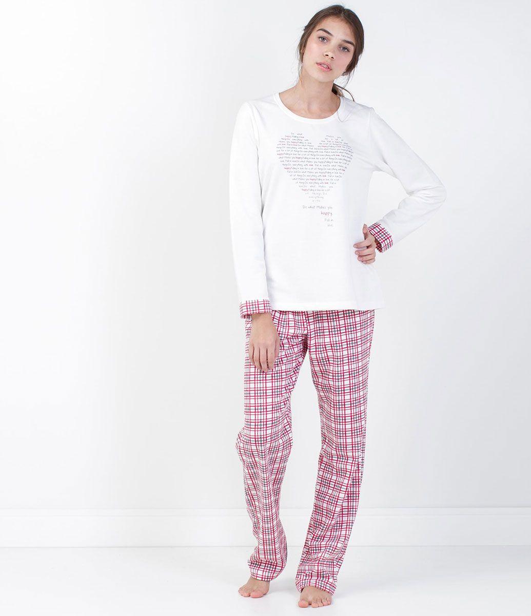 c18f64c737 Pijama Feminino Moletinho + Calça Xadrez - Lojas Renner