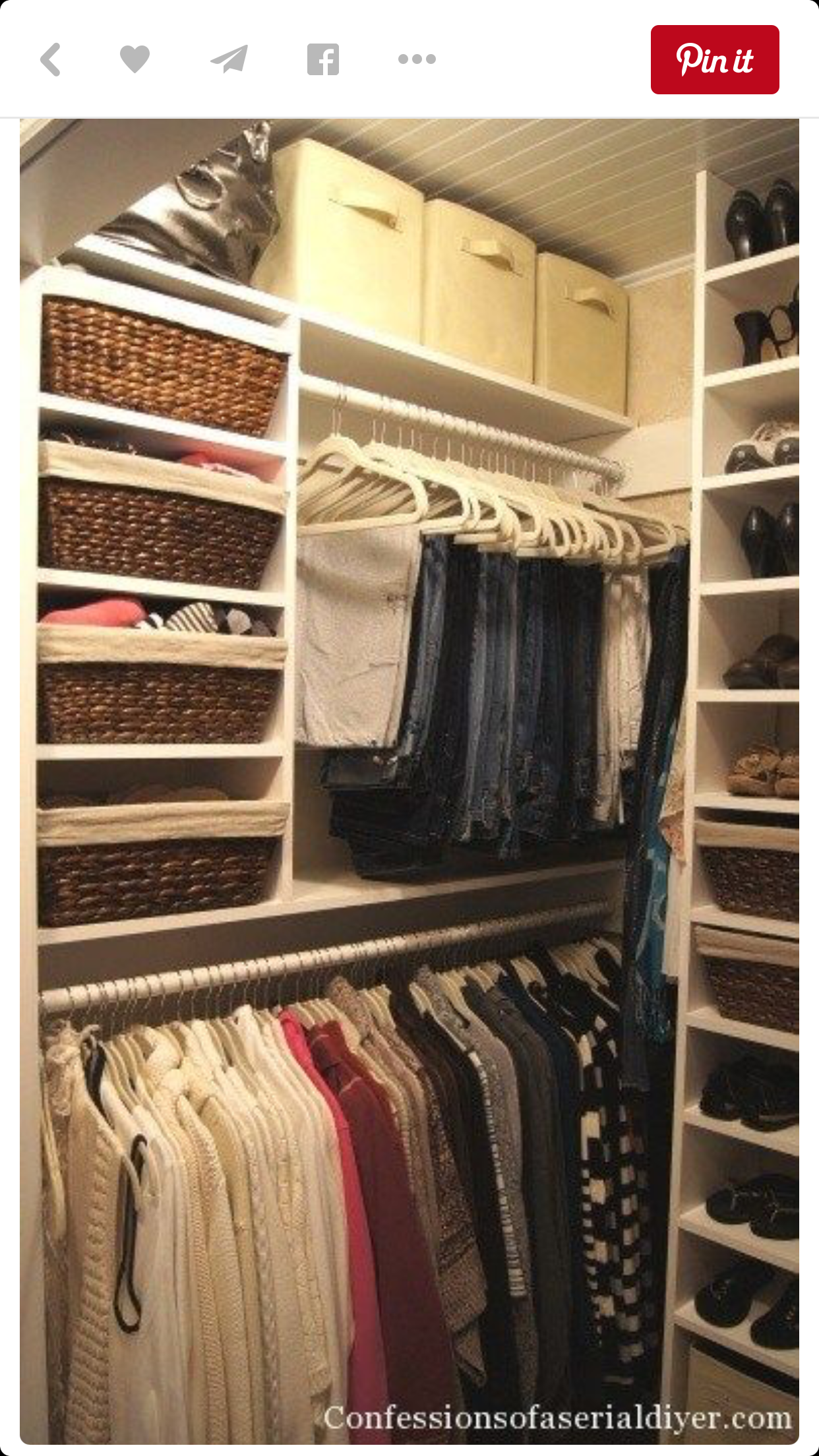 Savvy Storage Boxes With Handles Are Basically Made For Out Of Season  Clothes Stacked Above Your Clo.   Confessions Of A Serial DIYer