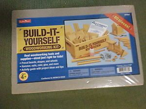 Build It Yourself Woodworking Kit For Kids Ages 4 Tools Suplies