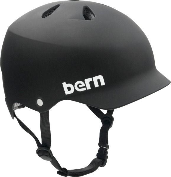 Bern Watts Matte Black Medium Hard Hat Helmet With Visor Bike Helmet Matte Black Helmet Helmet