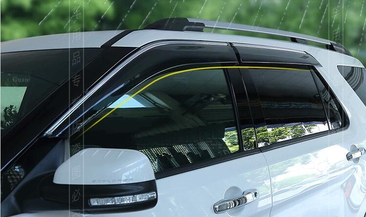 Window Visor Vent Shades Sun Rain Guard Deflector For Ford Explorer 2011 2012 2013 2014 2015 2016 Ford Explorer Shades Explore