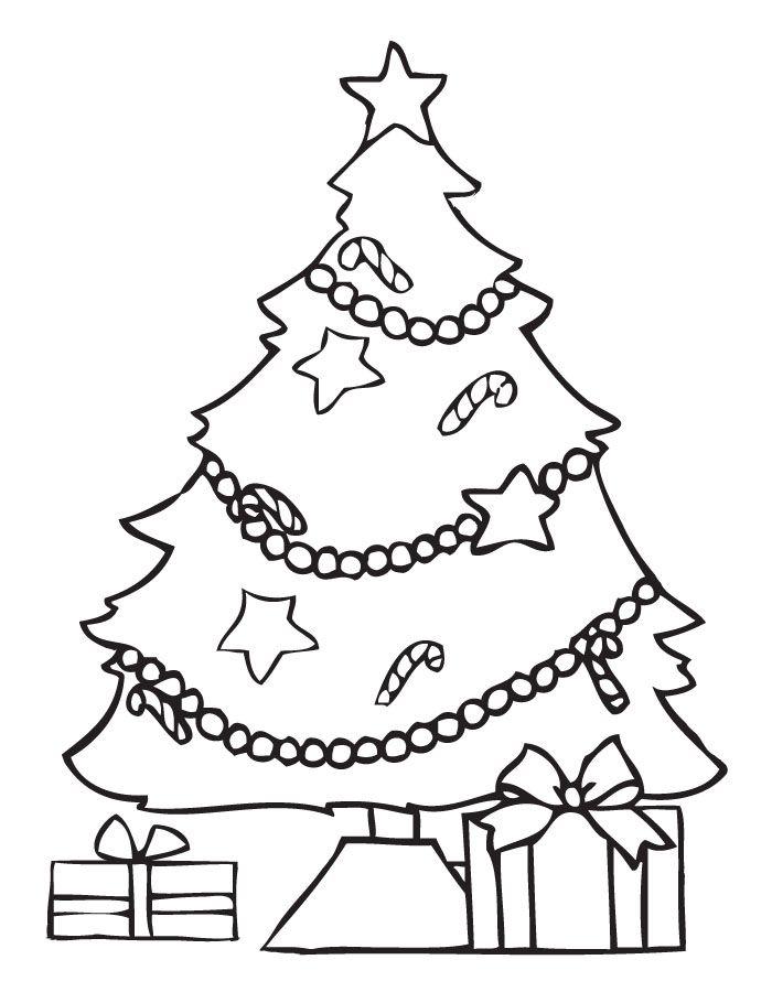 arbol de navideno con regalos para colorear dibujar recortar y ...