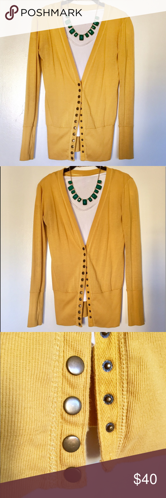 Yellow Cotton Sweater | Colors, Buttons and Color stories