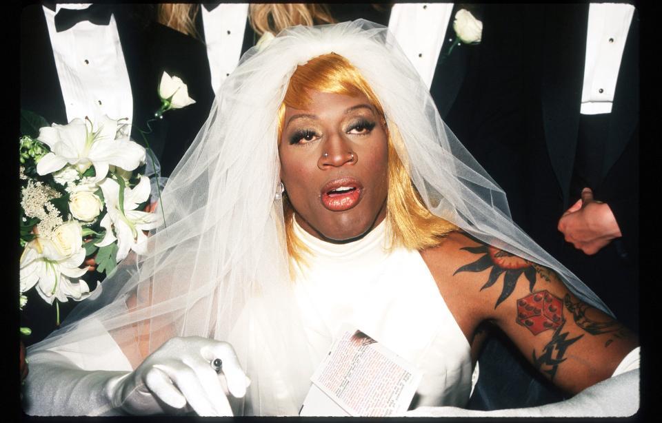 While Watching The Last Dance Remember That Dennis Rodman Wasn T Always Crazy In 2020 Dennis Rodman Pretty Girl Dresses Last Dance