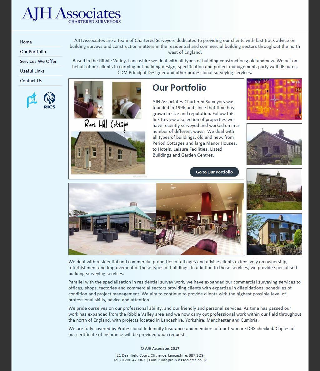 A J H Associates Surveyors Building Unit 21 Dean Field Court Link 59 Business Pk Clitheroe Lancashire Bb7 1qs To Get More Lancashire The Unit West Region