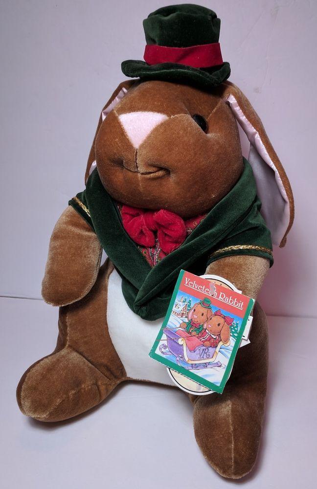 Vtg Velveteen Rabbit Plush 1985 Toy R Us NWT Victorian