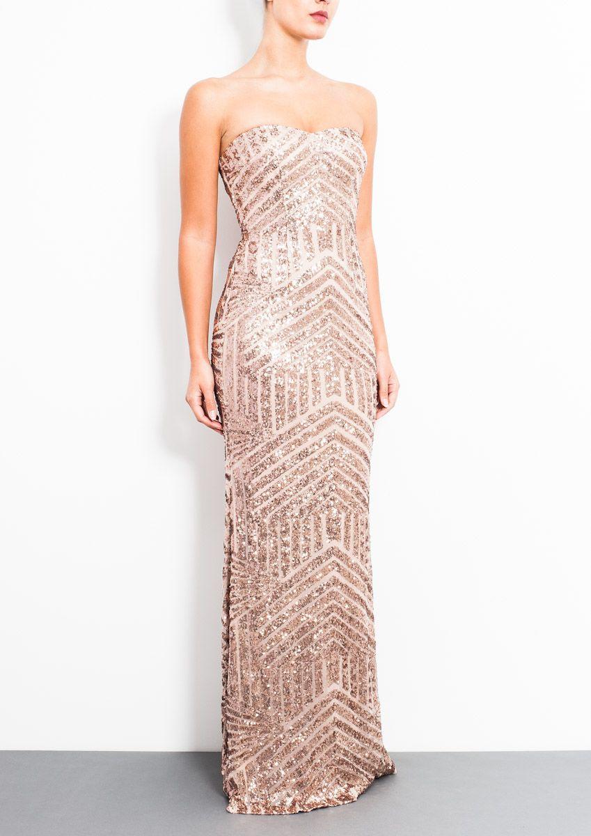 forever unique bandeau prom dress with embellished waist