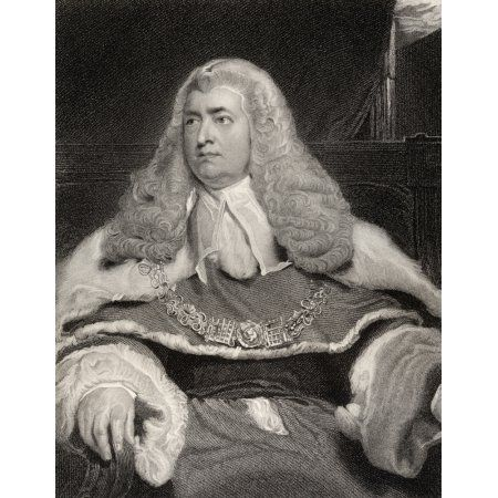 Edward Law 1St Baron Ellenborough 1750 To 1818 English Judge And Statesman Engraved By G Parker After Sir T Lawrence From The Book National Portrait Gallery Volume Ii Published C 1835 Canvas Art - Ken