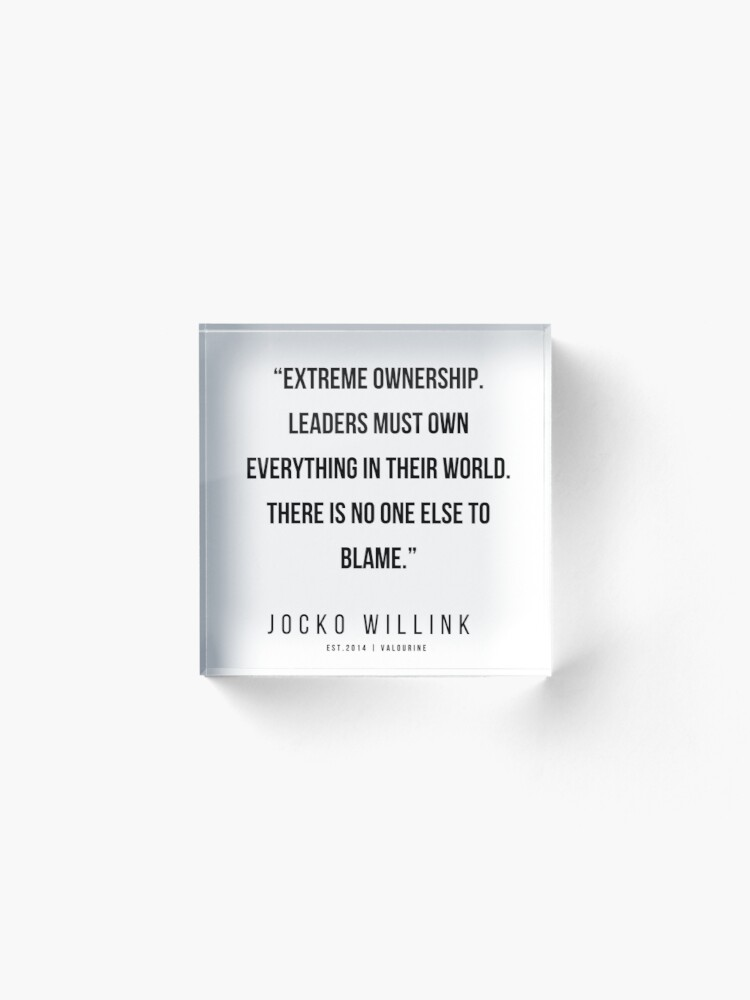 48 Jocko Willink Quotes 200412 Acrylic Block By Quotesgalore Homedecors Housede Bedroom Decor Inspiration Inexpensive Home Decor Home Office Decor
