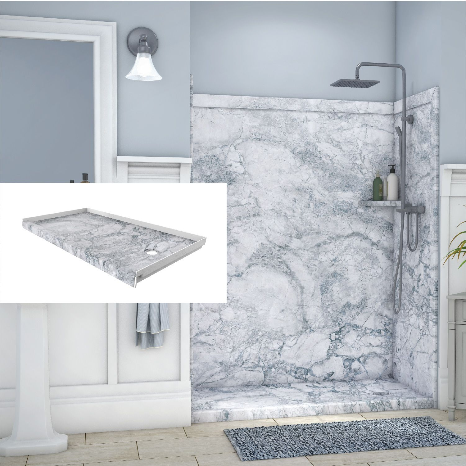 Did You Know You Can Order A Shower Base To Perfectly Match Your