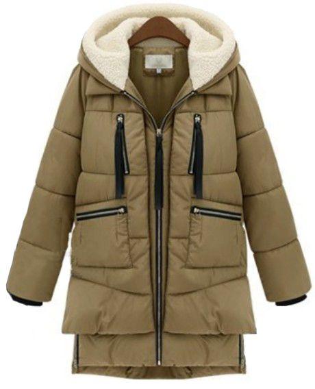 YUNY Mens Zip Hooded Down Pockets Warm Casual Winter Parka Jacket Grey 3XL