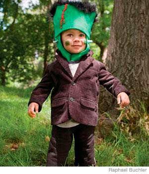 disfraz casero de halloween para nios de frankenstein DISFRACES