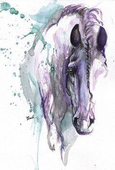 Fantasy Horse 2014 06 20 A Painting Watercolor Horse Horse Art