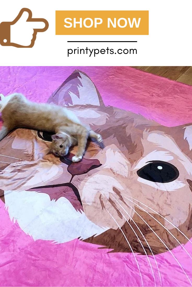 Custom Pet Print Fleece Blanket Print Fleece Blanket Pets Your Pet