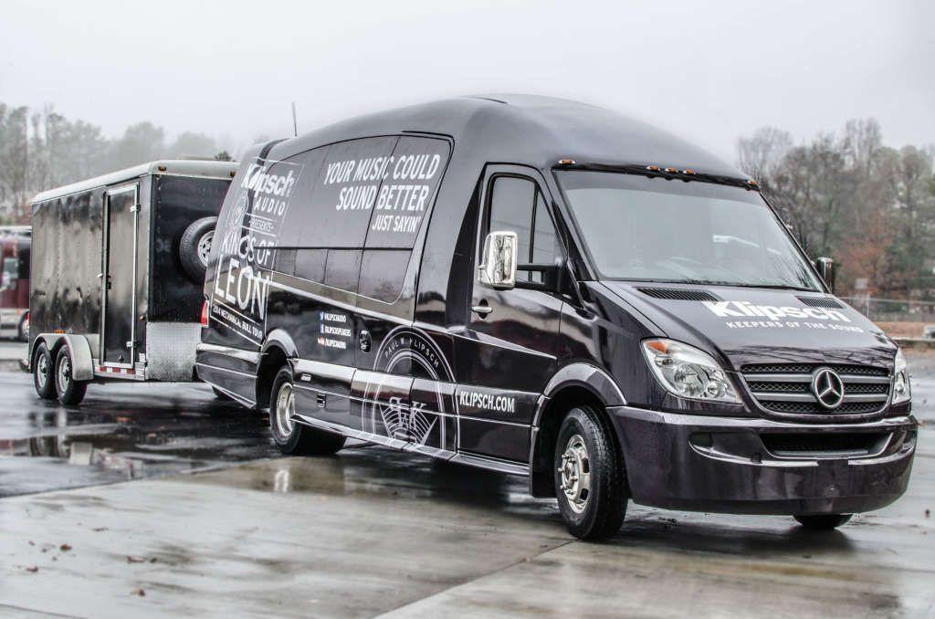 Klipsch Audio Wraps Mercedes Benz Mauck2 Sprinter For Kings Of Leon