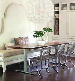 Add A Banquet Style Dining Table In A Small Dining Space But