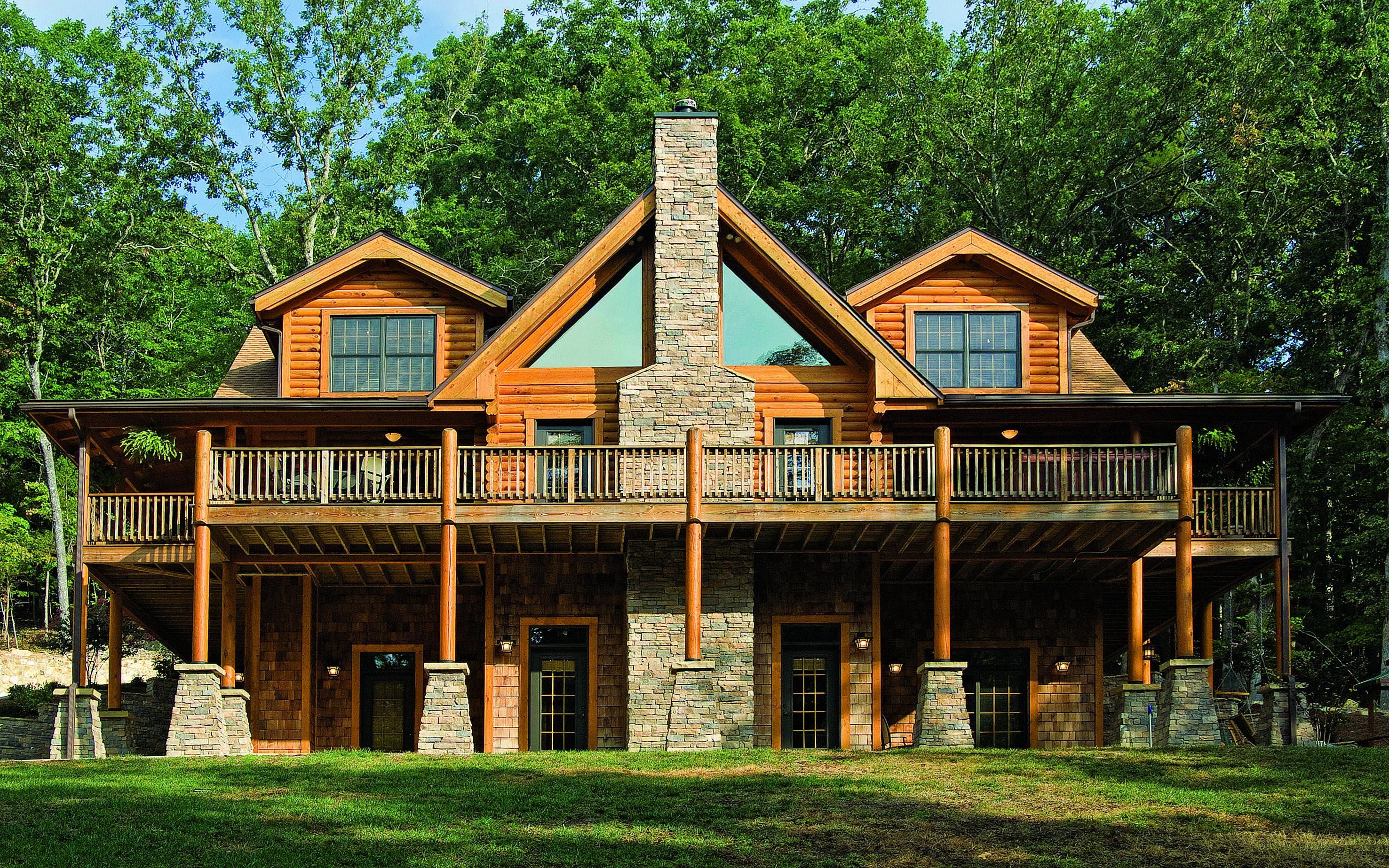 The Home of A Log Home Builder Log home builders, Log