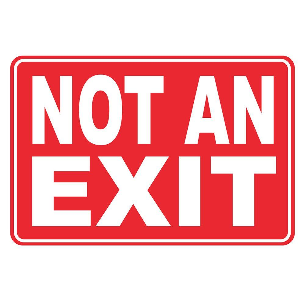 photograph about Printable Exit Sign identify 12 in just. X 8 inside of. Plastic Not An Exit Indicator Items within 2019