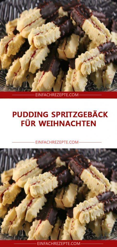 PUDDING SPRITZGEBÄCK FÜR WEIHNACHTEN